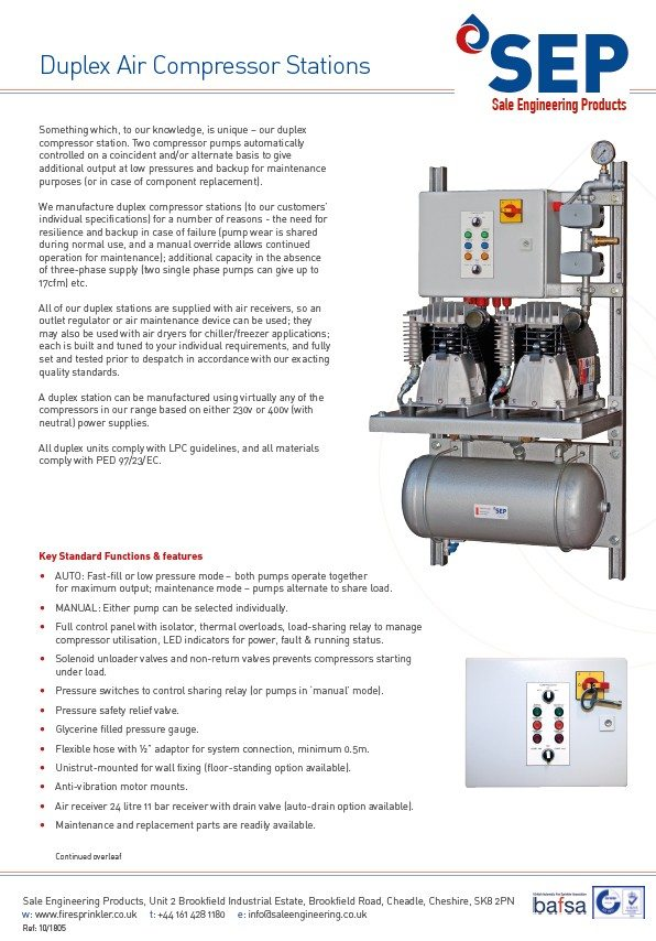 Air Compressors for Sprinkler Systems