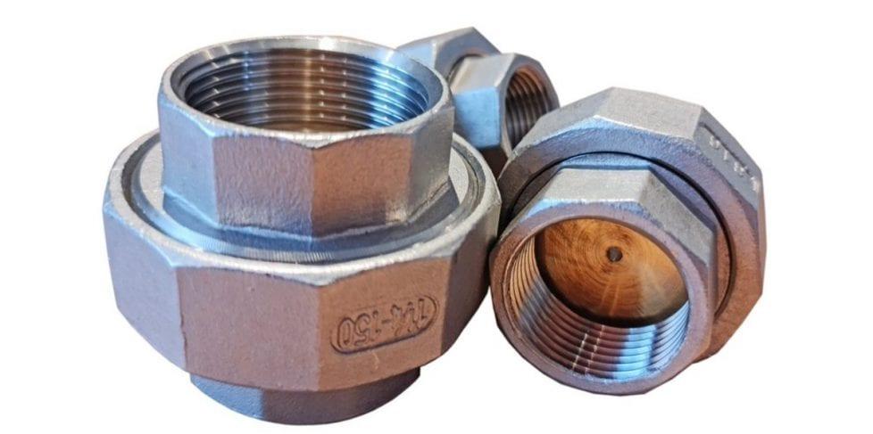 stainless steel orifice unions